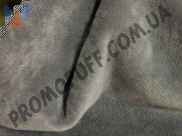 Кресло груша из флока серого цвета. Купить кресло мешок грушу в Киеве.