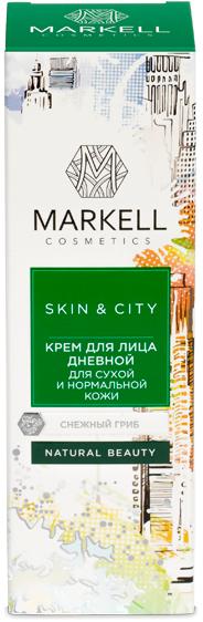Крем для лица дневной для сухой и нормальной кожи снежный гриб (50мл)