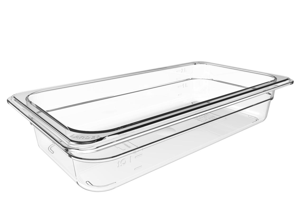 Гастроємність з полікарбонату прозора GN1/3 h100 мм