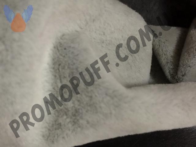 Кресло груша из флока светло-серого цвета. Купить кресло мешок грушу в Полтаве.