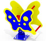 Качалка на пружине «Мотылек» K23 для самых маленьких игровая детская площадка, фото 2