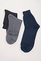 Носки мужские однотонные, темные №21P002 (Темно-синий)