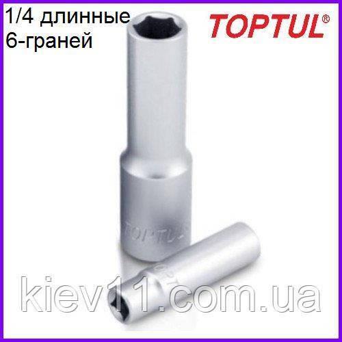 "Головка торцевая длинная  1/4""  12мм  TOPTUL BAEE0812"