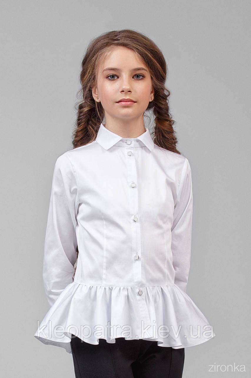 Блузка школьная для девочки 26-8006-1