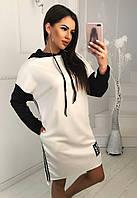 Спортивное трикотажное платье с капюшоном, фото 1