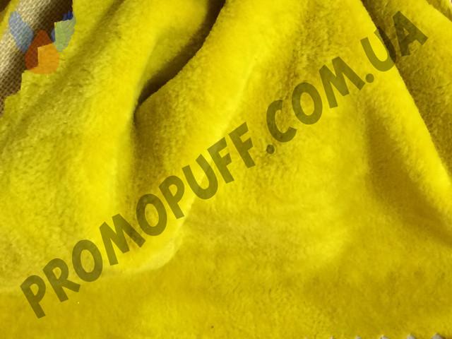 Кресло груша из флока желтого цвета. Купить кресло мешок грушу в Черновцах.