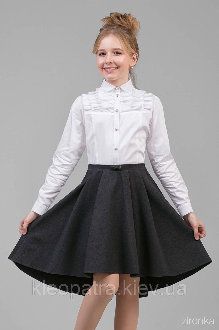 Юбка школьная для девочки 30-8004-3