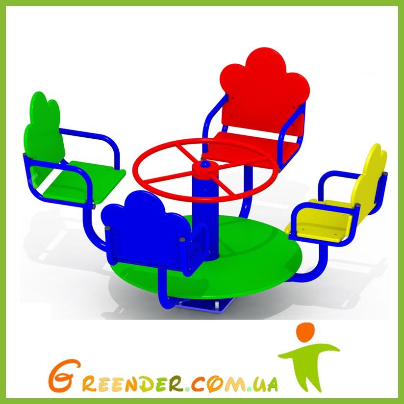 Карусель для детской площадки K32 цветная