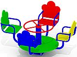 Карусель для детской площадки K32 цветная, фото 2