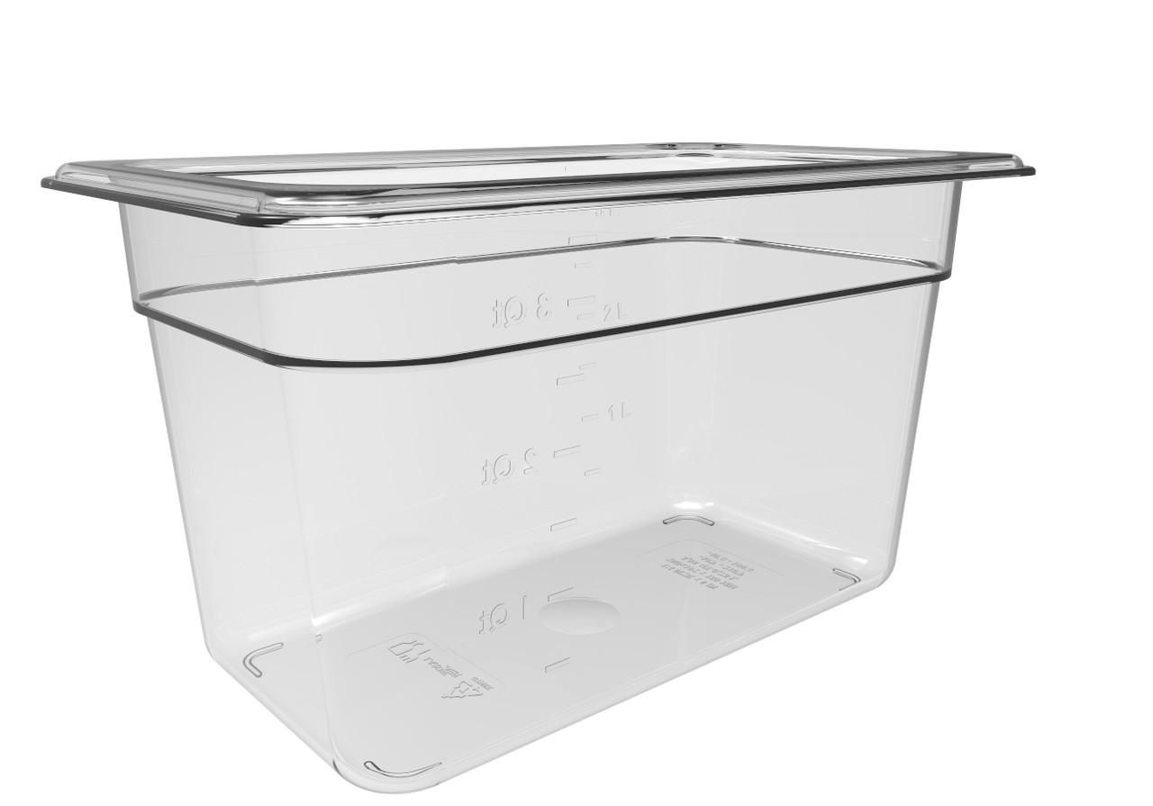 Гастроемкость из поликарбоната прозрачная GN1/4 h150 мм