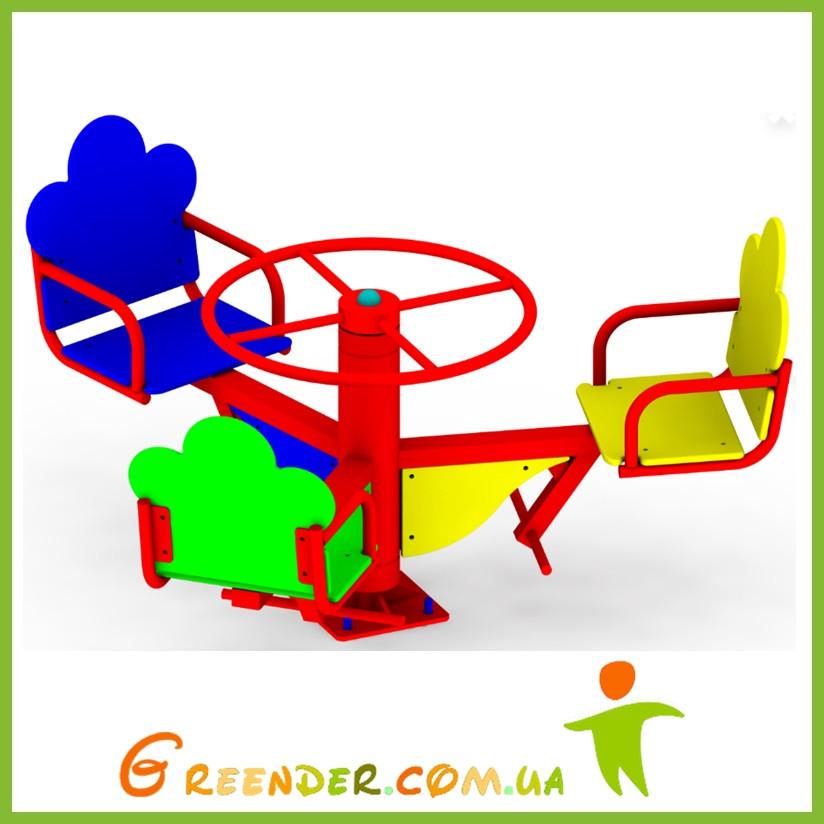 Карусель детская K 39 цветная спортивные комплексы на улицу