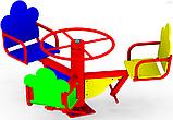 Карусель детская K 39 цветная спортивные комплексы на улицу, фото 2