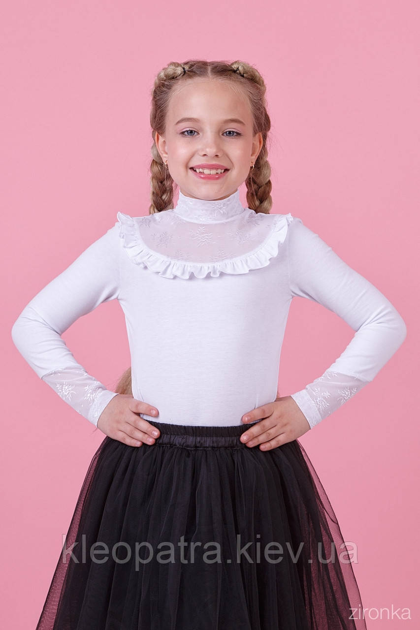 Блузка школьная для девочки 26-8043-1