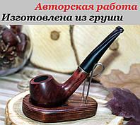 Трубка курительная табачная - авторская работа. Материал - груша. Мундштук под фильтр., фото 1