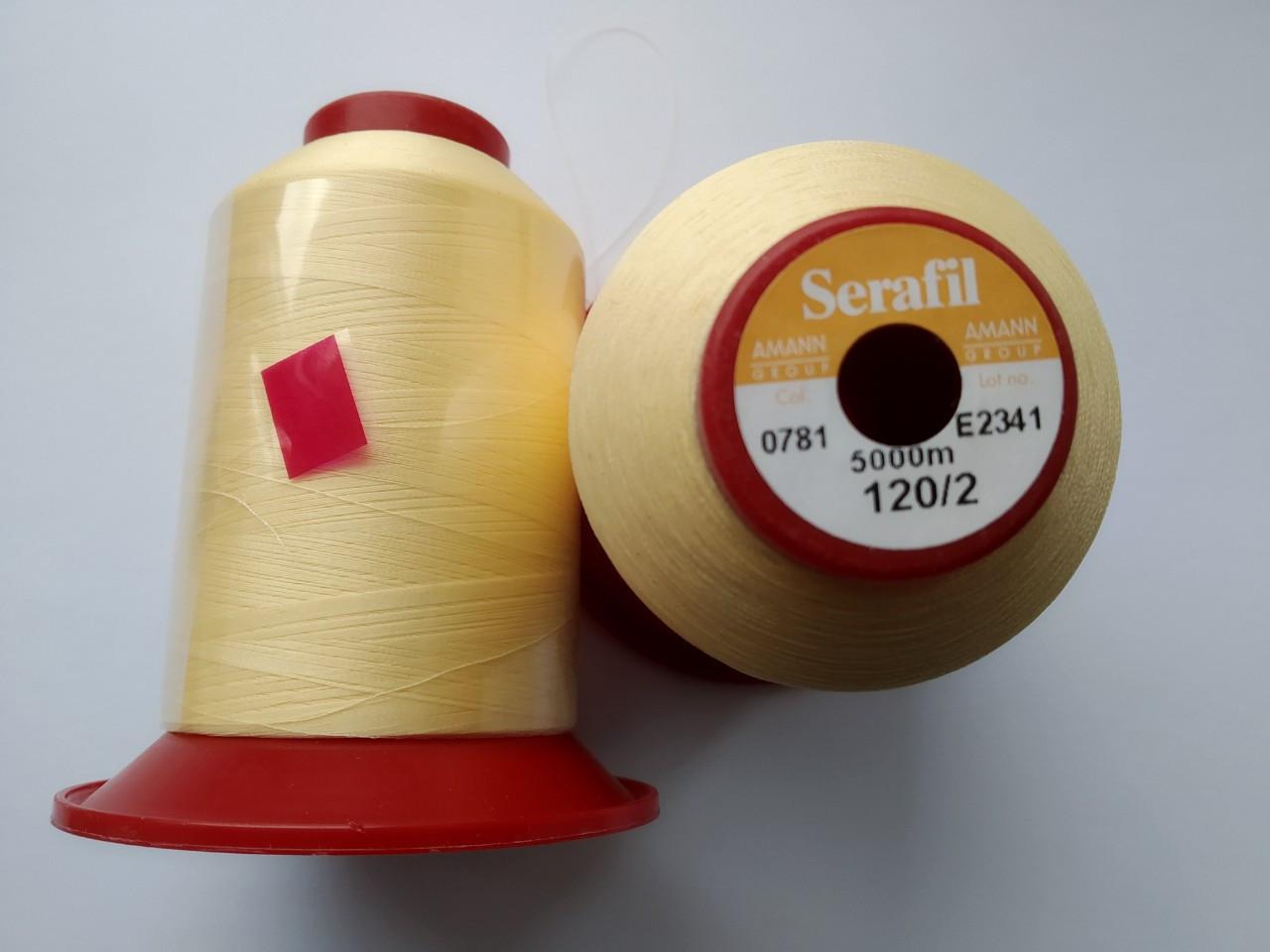 Нитки Serafi Amann 120/2  колір 0781