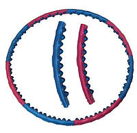 Хулахуп магнитный обруч 2 ряда массажных шариков Super Wide