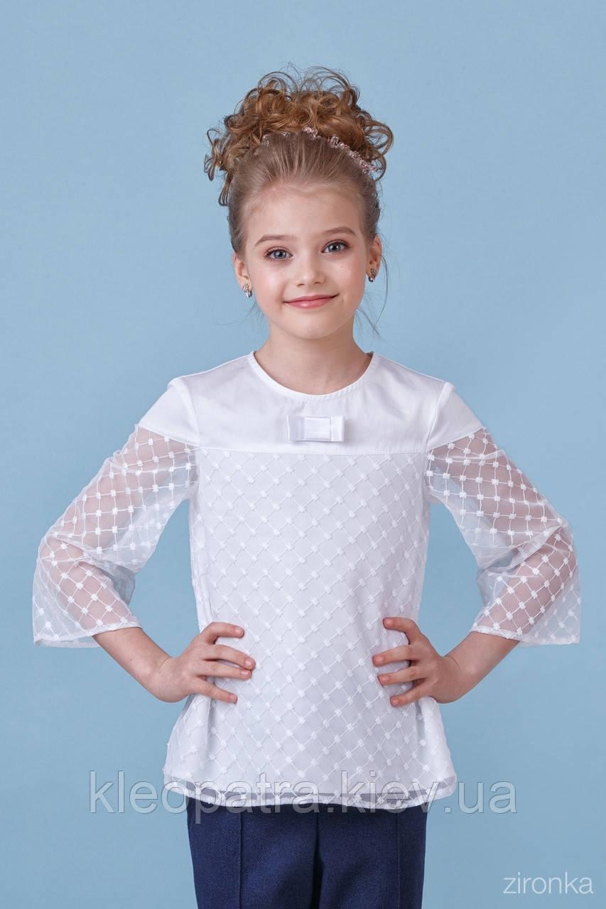 Блузка школьная для девочки 26-8080-1