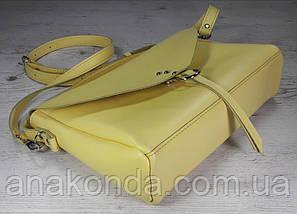 98 Сумка женская натуральная кожа, желтая лимонная Lemon Verbena лимонная вербена, фото 2