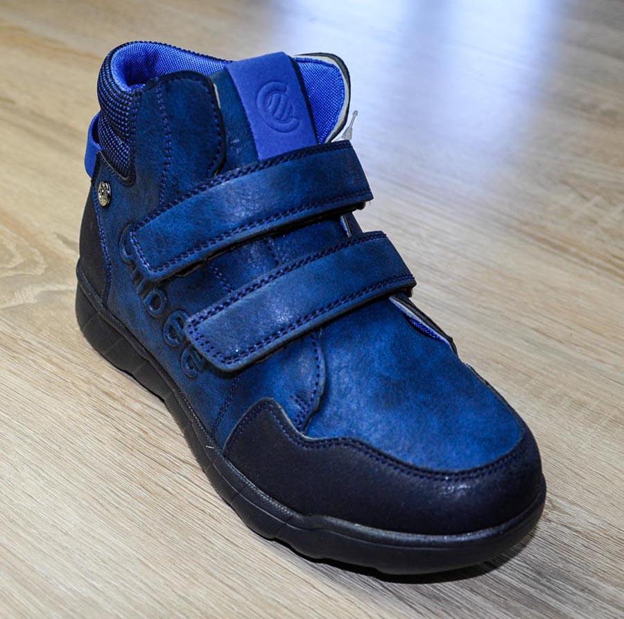 Ботинки демисезонные синего цвета на липучках для мальчика, Clibee