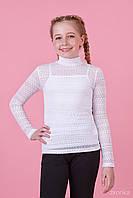 Блуза для девочки школьная с майкой  64-8024-1