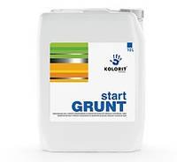 Грунтовка укрепляющая Standart Grunt KOLORIT start GRUNT концентрат 1:1, 10л