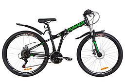"""Велосипед 26"""" Formula HUMMER AM 14G DD St с крылом Pl 2019 (черно-салатный (м))"""