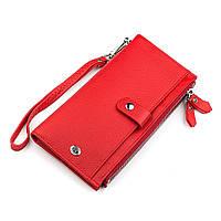Кошелек женский ST Leather 18381 (ST420) многофункциональный Красный, фото 1