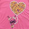"Футболка ""Сердце"" для девочки. 98 см, фото 2"