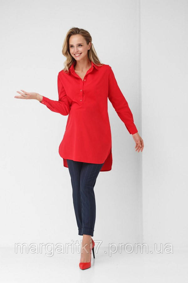 Рубашка для беременных и кормящих Dianora красная