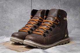 Зимние ботинки на меху CAT Caterpilar, коричневые 30752