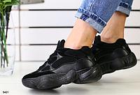 Кроссовки Adidas замшевые черные , фото 1