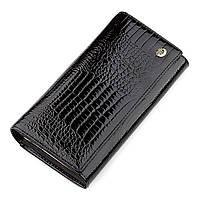 Кошелек женский ST Leather 18426 (S6001A) кожаный Черный, фото 1