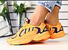 Кроссовки Adidas замшевые оранжевые с синими вставками
