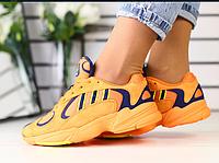 Кроссовки Adidas замшевые оранжевые с синими вставками, фото 1