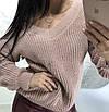 Модный свитер женский с большим вырезом, фото 8