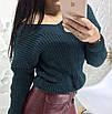 Модный свитер женский с большим вырезом, фото 9