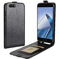 Чехол IETP для Asus ZenFone 4 / ZE554KL / z01kd Флип вертикальный кожа PU черный