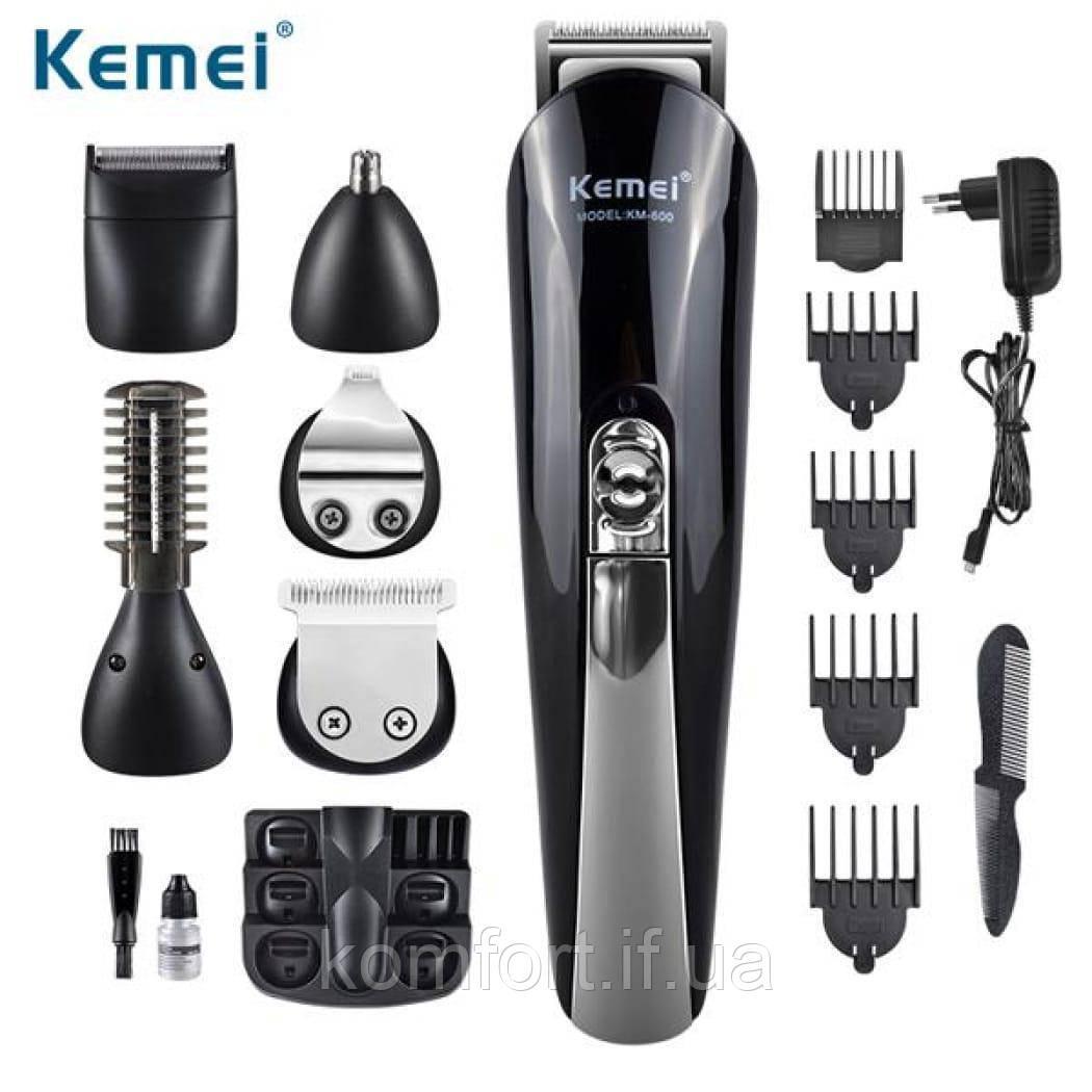 Набор для стрижки 11 в1 триммер машинка бритва Kemei KM 600
