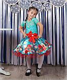 Красивое нарядное платье  с цветами  для девочек, фото 2