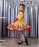 Красивое нарядное платье  с цветами  для девочек, фото 4