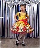 Красивое нарядное платье  с цветами  для девочек, фото 6