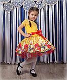 Красивое нарядное платье  с цветами  для девочек, фото 7