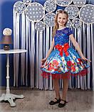 Красивое нарядное платье  с цветами  для девочек, фото 9