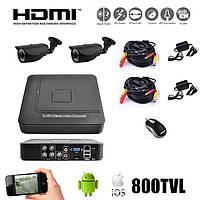 Комплект видеонаблюдения на 2 камеры. S1004HN