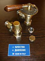 """Комплект рад.кранов  Carlo Poletti """"handle bronze"""" - 1/2""""  Италия"""