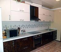 Кухни с фасадами МДФ покраска и шпон, фото 1
