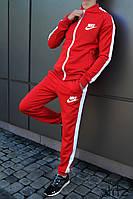 Мужской Спортивный Костюм Nike Красный Очень Качественный Спортивний Костюм Чоловічий Червоний