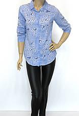 Стильна жіноча сорочка з квітковим принтом, фото 2