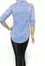 Стильна жіноча сорочка з квітковим принтом, фото 3