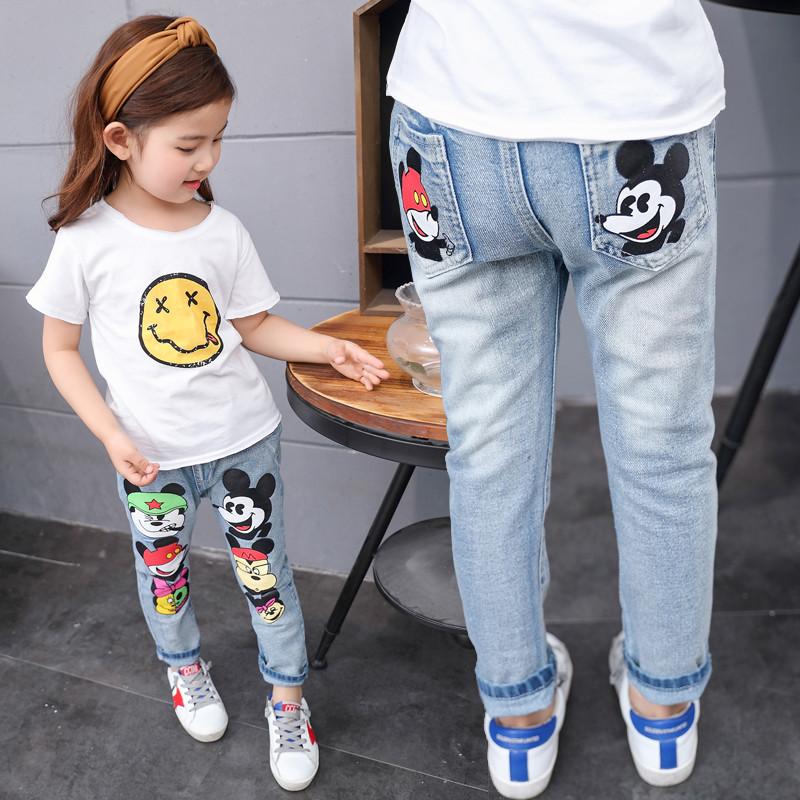 Детские джинсы с  кики маусом